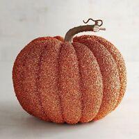 Large Glitter Pumpkin Halloween Fall Thanksgiving Harvest NWT Pier 1