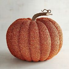Large Glitter Pumpkin Halloween Fall Thanksgiving Harvest NWT