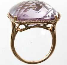 14k Rose Gold Lavender/Pink Amethyst & Diamond Ring,Dia 0.21cts,,AM 11.5 cts