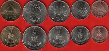 Vanuatu set of 5 coins: 5 - 100 vatu 2015 Unc
