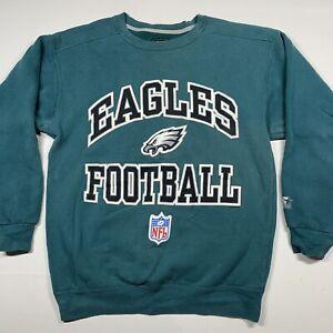 Rare Vintage Starter Philadelphia Eagles Football Crewneck Sweatshirt 90s SZ Med