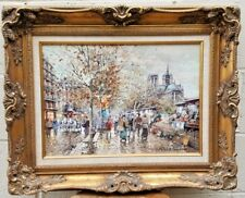 "ANTOINE BLANCHARD ORIGINAL FRENCH O/C PAINTING WITH PROVENANCE  13"" BY 18"""