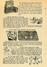 1924 small Print Ad of Ouija Fortune Telling Board Magic Cone Ball & Card Case
