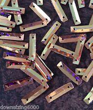 Sequins Rectangle 14mm Rose Gold / Soft Copper Laser Baguette Toblerone Metallic