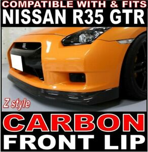 """Carbon Fibre Z-style Front lip spoiler """"fits"""" Nissan R35 GTR 2008-2011 Phase 1"""