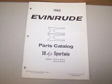 1962 Evinrude Outboard Factory Parts List 10hp Sportwin Boat Motor