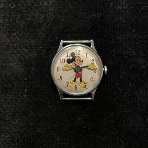 Vintage 1970 Timex Mickey Mouse Watch Walt Disney Productions
