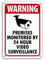 Warning Video Surveillance Sign Video Monitor Signunder 24 hour cctv BURGLAR