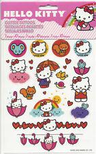 Hello Kitty GLITTER TATTOOS Party Supplies Favors Temporary Rainbow Umbrellas