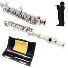 New Professional Piccolo Ottavino Half-size Flute Silver C Key w/Case Exquisite