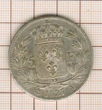 5 f Charles X 1827 A Paris