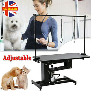 Large Hydraulic Z Lift Grooming Bath Table Pet Dog Beauty Height Adjustable UK
