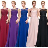 GK Sleeveless Lace&Chiffon Ball Gown Maxi Pageant Long Evening Prom Party Dress
