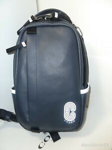 NWT Coach 89910 Edge Pack Small Smooth Leather Midnight/Navy Swing Pack X-body