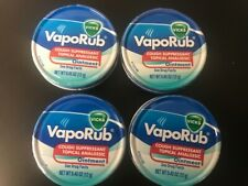 Vicks VapoRub Cough Suppressant Topical Analgesic Ointment 4 Pack, 0.45 oz(12 g)