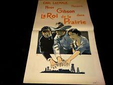 LE ROI DE LA PRAIRIE   tres tres rare dossier presse cinema  western 1927