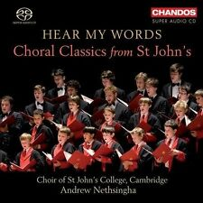 HEAR MY WORDS: CHORAL CLASSICS FROM ST JOHN'S COLLEGE CHOIR/NEW HYBRID CD sale!
