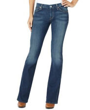 7 For All Mankind Denim Embroidered Contour Waist Flare Jeans Size 24 NWT