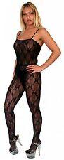 Sexy Lingerie  see through  Black Fishnet  One Size Nylon Bodystocking pantyhose
