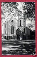 Congregational Church Amboy Illinois IL RPPC postcard