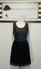 SPARKLE AND FADE DRESS WOMEN 4-8 RACE SPRING LEATHER  FASHION BLACK SHORT ROCK