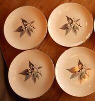 Vintage Homer Laughlin LOTUS HAI RHYTHM Plates Mid Century Modern MCM Set of 4