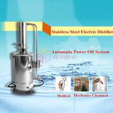 110V / 220V 5L/H Auto Electrical Stainless Steel Water Distiller Filter Machine