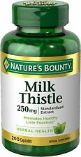 Nature's Bounty Milk Thistle 250 mg Capsules 200 ea (Pack of 9)