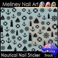 Nautical Sail Anchor Lighthouse Sea Nail Art Stickers decoration Craft Supplies