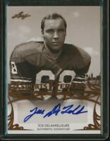 JOE DELAMIELLEURE 2013 Leaf Sports Heroes AUTO Autograph