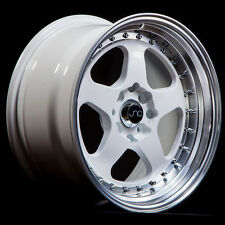 NEW JNC 010 WHEELS 16X9 4X100/4x114.3 +15 OFFSET WHITE SET OF 4 RIMS
