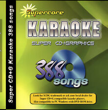 Karaoke Super CD+G DVD Supercore 388 Tracks New in Case will play on CAVS or Pc