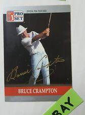 Bruce Crampton 1990 92 Enthusiast PGA Tour Autographed ProSet Trading Card HS
