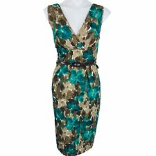 AXCESS Green Multi Belted Women Dress. Size XL. Excellent Conditions