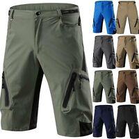Men's Cycling Mountain Bike MTB Bicycle Baggy Shorts Pants Jogger Zipper Pockets