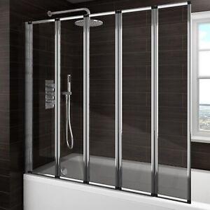 Bath Shower Screen 180 Pivot 6mm Glass Over Bath Screen 2 4 5 Fold Door Panel