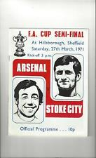 Arsenal v Stoke City FA Cup Semi Final Football Programme 1971
