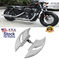 Chrome Passenger Rear Cut Stretched Footboard Footrest For Harley Touring US BF3