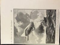 m17c5 ephemera ww1 picture german zeppelin holds up merchant vessel north sea