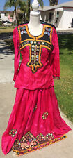 Amazing Red East Indian Shirt and Blouse with Mirrors
