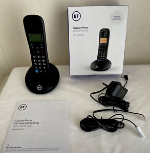 BT Everyday Cordless Digital Telephone With Nuisance Call Blocker In Black