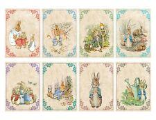 Beatrix Potter Peter Rabbit 8 card stationery with ivory envelopes organza bag