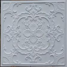 PL19 Faux tin ceiling tiles white matt embossed decor wall panels 10tiles/lot