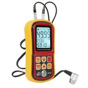 GM130 Digital Ultrasonic Thickness Gauge Tester Sound Velocity Meter 1.00~300mm