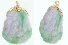 Großer Jadeanhänger mit Budda und Drachen - Gold 585 Anhänger Jade Glücksbringer