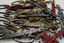 3pcs CLASSIC Script DODGE CHALLENGER Emblem Badge RED Nameplate 2008-2018