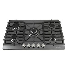 30inch  5 Burner Built-in Stoves  Black Titanium LPG/NG Gas Hob Cooking Cooktops