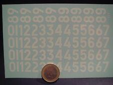 DECALS 1/24 CHIFFRES BLANCS ANCIENNES TYPOGRAPHIE PART 3 -  T317