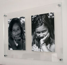 """Perspex acrylic multi poster picture photo frame for 2x A3 /12x16"""" all colour"""