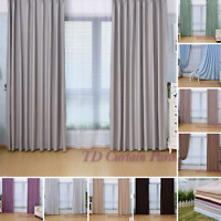 Blockout Fabric Drapes Eyelet Purple Grey Gray Green Blue Coffee Creamy Curtains